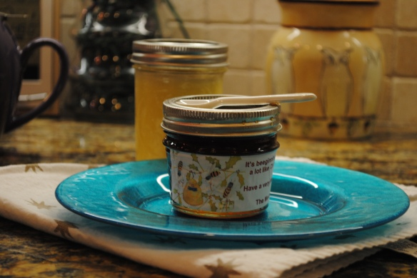 Home made honey and ghee.