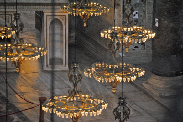 The chandeliers, an Ottoman addition to the space, seem like floating clouds.