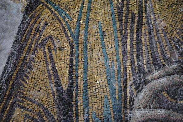 The mosaic tiles.