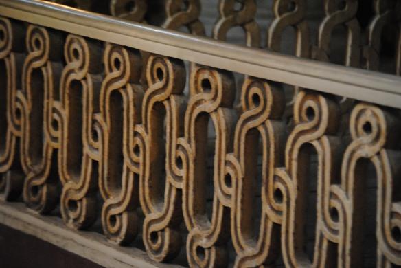 A railing.