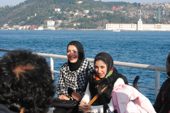 People watching on the Bosphorus cruise.