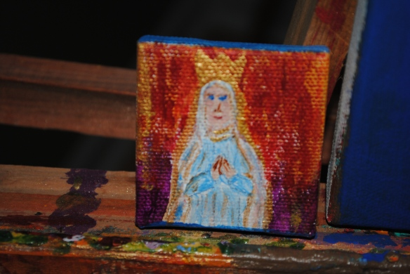 One of Ellen's tiny canvases.