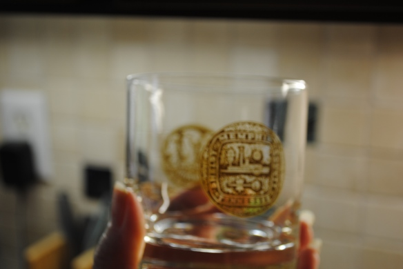 Memphis Sesquicentennial glasses, an early find for the bar.