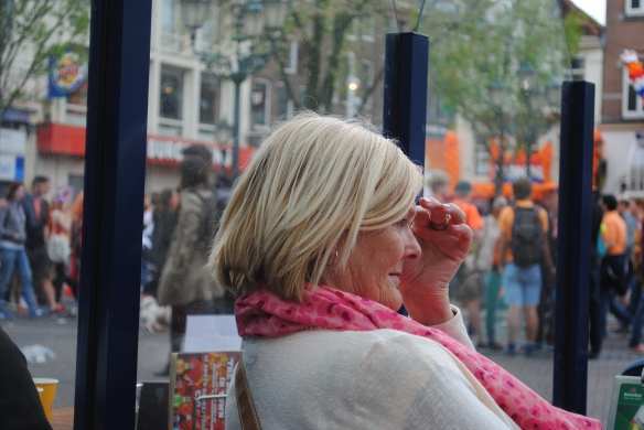 Take this woman for example. She sat right beside me, yet she seems unaware of my status. Orange attire was a necessity!