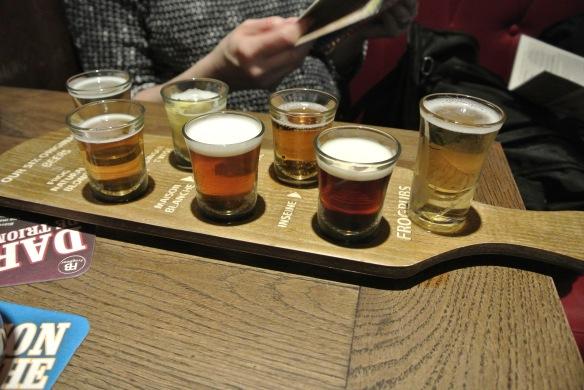 The oldest peeps at the brew pub. Bonjour!