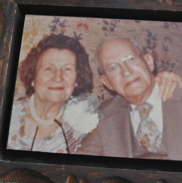 Mama, Marie Blanche Morarity James, the second owner of the etagere, with Grandaddy, William Martin James.