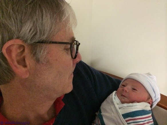 Grandaddy with his new sweetheart.