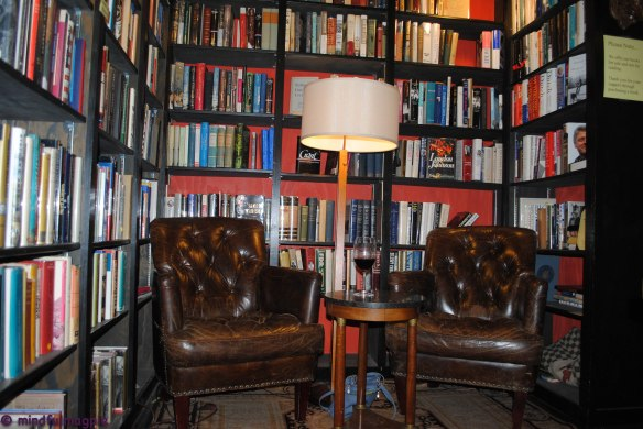 You know you could hide behind those chairs. And beyond them, a bookcase to the second floor!