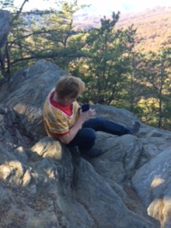 A moment of reflection on Raven Knob.