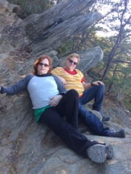 A couple of badasses at the top of Raven Knob